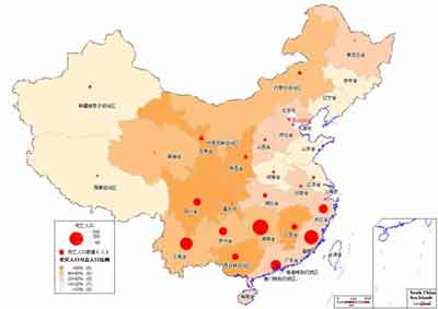全国人口分布图_2006年全国人口